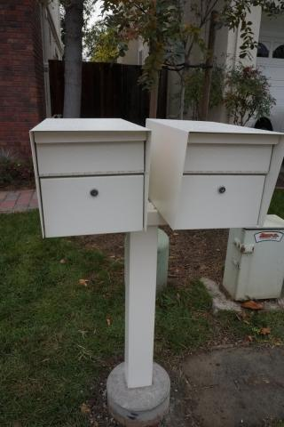The New Mailboxes Are Currently Being Installed. These Mailboxes Have 2  Sections. The Upper Door Is Used By The Post Person To Deliver Mail To Your  Mailbox ...