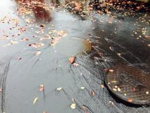 Drain Cover lifted away due to heavy rain